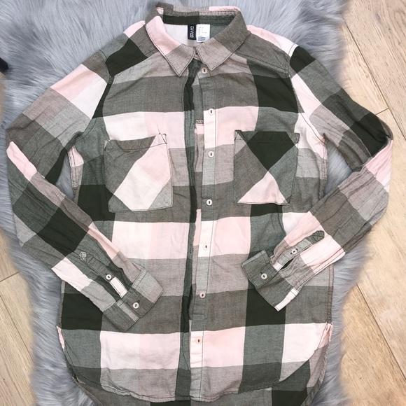eb6bc3b667de2 H&M Tops | Hm Pink Plaid Shirt | Poshmark